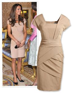 "Kate's Bandage ""Reiss"" Dress. Love the lines and draping; accentuates all the right areas and distracts from the wrong ones! :)"