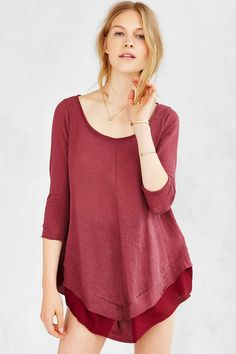 Kimchi Blue Buttons Down Her Back Tunic Top