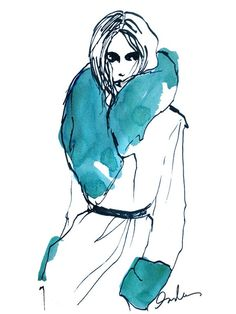 I came across Flare magazine's Fashion/Illustrations pinboard and thought it would make a great Inspiration post.