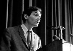Howard #Zinn debating the Vietnam War in Boston University's Hayden Hall in 1967.