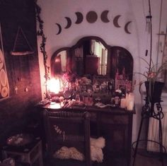 Witchy room gothic home decor gothic bedroom witch cottage great goth home decor 43 on home design styles interior ideas with goth home decor ptenchiki Decoration Design, Deco Design, Design Design, Design Ideas, House Design, Goth Home Decor, Gothic Bedroom Decor, Gothic Room, Gypsy Decor