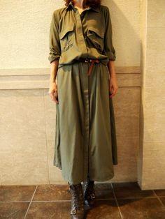 *シャツ マキシワンピース 【カーキ】*の画像   mami x (fashion+life+handmade) blog