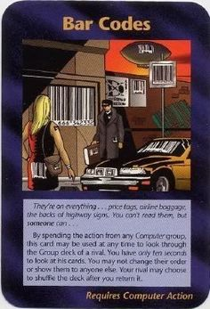 Illuminati Card Game - Bar Codes