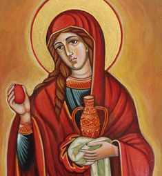 Saint Mary Magdalene. Orthodox icon handmade by ByzantineArt