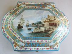 Superb-Antique-12-034-Russian-Porcelain-Hand-Painted-Box-GARDNER-c-1880-Signed