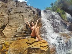 Relaxando na Cachoeira do Grito, Capitólio