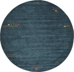 Teal 9' x 9' Indo Gabbeh Round Rug   Oriental Rugs   Rugs.ca - dining table