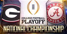 Georgia Bulldogs vs Alabama Crimson Tide Alabama Vs Georgia, Alabama Crimson Tide, College Football Scores, National Championship, Georgia Bulldogs, Live