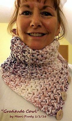 I love the way the combined use of hdc and slip sticth work together to make beautifully textured fabric. So many opportunities to make lovely pieces to wear, this cowl included. Although the stitch combination is a popular one, I hope you will enjoy one more cowl design using them.