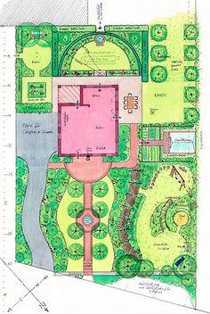 Gartenplanung f r einen unregelm ig geschnittenen for Garten anlegen plan