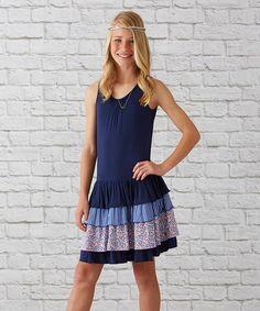 Matilda Jane Clothing Navy Marina Dress - Girls #zulilyfinds