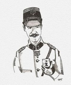 selfie The grand Budapest hotel Inspector Henckels