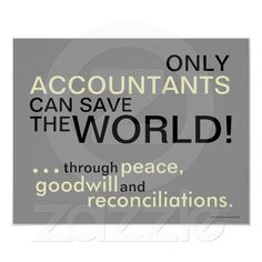 Only Accountants Can Save The World!