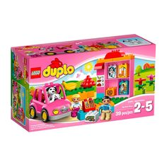 Lego Duplo - El Supermercado;  Acércate al supermercado y compra los alimentos que necesites. Un simpático dependiente te ayudará en lo que necesitas. Después de pagar en caja, es el momento de llevarlo todo al coche y regresar a casa. Incluye 2 figuras LEGO DUPLO: un dependiente y una clienta... En  http://www.opirata.com/lego-duplo-supermercado-p-25891.html