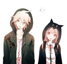 Komaeda Nagito and Nanami Chiaki Danganronpa Anime Siblings, Anime Couples Manga, Cute Anime Couples, Anime Best Friends, Friend Anime, Anime Chibi, Anime Cosplay, Nanami Chiaki, Nagito Komaeda
