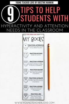 9 Tips to Help Students with ADHD, Hyperactivity, and other Attention Needs in the Classroom - Young Teacher Love 5th Grade Classroom, Middle School Classroom, Classroom Behavior, Classroom Management, Primary Classroom, Behavior Management, Kindergarten Classroom, Classroom Ideas, Elementary Teacher