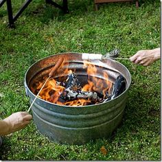 Kind of like the industrial look....DIY Fire Pit Ideas - DIY Crafty Projects