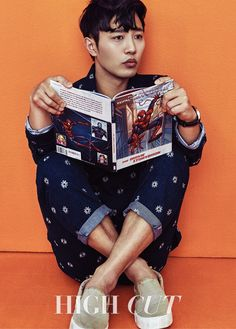 "Actor Jin Goo Channels His Inner Child with ""High Cut"" Photoshoot Denim Attire, Bh Entertainment, Oh My Venus, Jin Goo, Kbs Drama, Empress Ki, Spider Man 2, Korean Fashion Men"