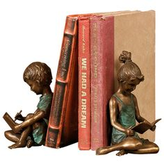 Absolutely love this 2 Piece Jack & Jill Bookend Set