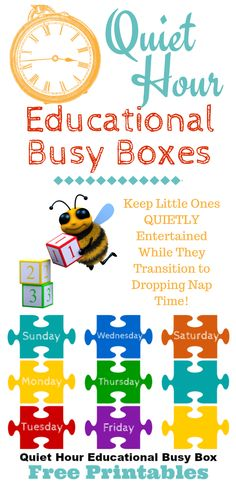 What do you do with your preschooler when they hit that in between stage of needing a nap and giving it up? You start quiet hour! Here's a great idea for making quiet hour educational busy boxes for your preschooler. ~ http://serendipityandspice.com