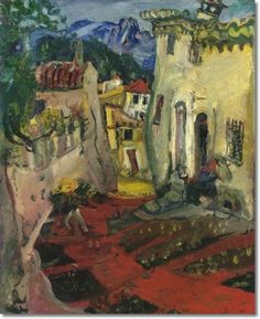 Rue à Cagnes, 1924 by Chaim Soutine (Lithuania/French 1893–1943)