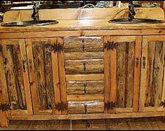RUSTIC BATHROOM VANITY 42 Copper Sink Rustic by CantonAntiques