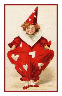 Valentine Cherub Red Hearts Counted Cross Stitch or Counted Needlepoint Pattern