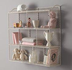 Vintage Wire Cubby Shelf - Large   Wall Storage   Restoration Hardware Baby & Child
