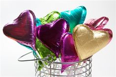 Chocolate foiled hearts are always a winner!