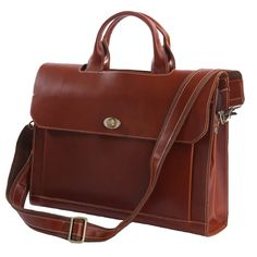 'Downtown' Leather Briefcase (Ships From Amazon) - Jason Gearld
