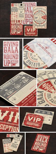 Carnival invitations -- see the rotating wheel one?