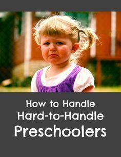 Strategies for dealing with disruptive behavior in preschool children, including…