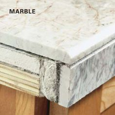 How to Install Granite Tile Countertops (Kitchen Tile) DIY granite tile edge treatment how to Kitchen Countertop Materials, Kitchen Tiles, Kitchen Cabinets, Kitchen Floors, Kitchen Counters, Kitchen Reno, Granite Tile Countertops, Tile Edge, Diy Kitchens