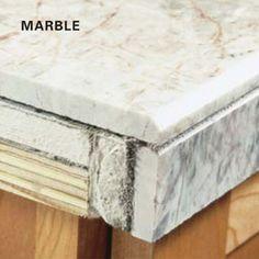 DIY granite tile edge treatment how to