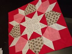 "Tutorial for making big Star of Bethlehem block in 64 square grid. Charm squares would trim HSTs to 4.5"" unfinished. Finished medallion would measure 32"" square finished."