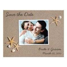 wedding save the date cards ocean | Beach Theme Save the Date Photo Cards Personalised Invites
