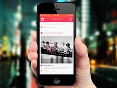 iOS 7 Photo List - Project by Leonard Latescu, via Behance Ios 7, Blackberry, Phone, Projects, Behance, Inspiration, Log Projects, Biblical Inspiration, Telephone