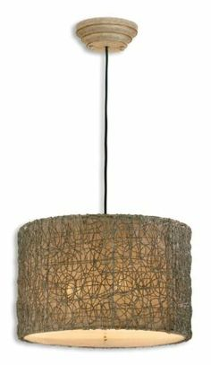 Woven metal drum shade mini pendant metal drum drum shade and uttermost knotted rattan hanging shade in ivory aloadofball Gallery