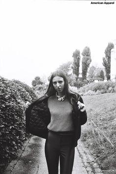 Felicia in fall womenswear. Paris, October 2012. #AmericanApparel #AAFALL