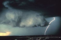 A rotating wall cloud usually develops before tornadoes or funnel clouds.  weatherwizkids.com