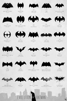 Batman logo evolution I would normally use this for batman nailart