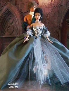 ooak outlander inspired dolls Barbie repaints with craigh na dun inspired doll stands
