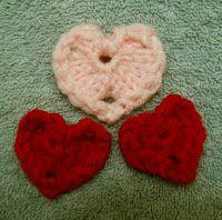 Loom Lore: Little loom-knit hearts