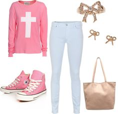 """""""Back To School Outfit"""" by jenyasimeng ❤ liked on Polyvore"""