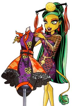 Monster High by Airi, Jinafire Arte Monster High, Monster High Wiki, Monster High School, Monster High Dolls, Monster Girl, Monster High Pictures, Personajes Monster High, Homemade Face Paints, Ever After High