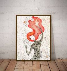 poster red hair - 30x40 cm