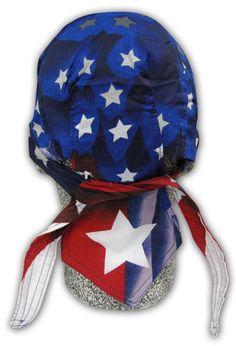 Star Spangled USA American Flag Doo Rag Headwrap Skull Cap Sweatband Capsmith #Capsmith #Headwrap