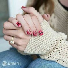 I love Jamberry's festive designs!  Shown: Santa Suit and Tinsel Town.