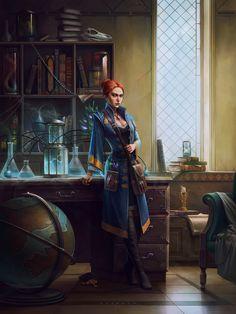 wait in her friends study room in Taragon