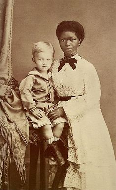 A Boy and his nanny in Pernambuco, Brazil, 1874